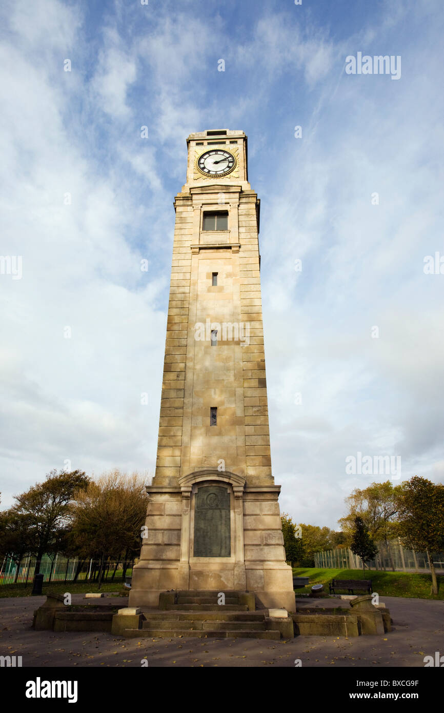 Cocker clock tower in Stanley Park, Blackpool Stock Photo