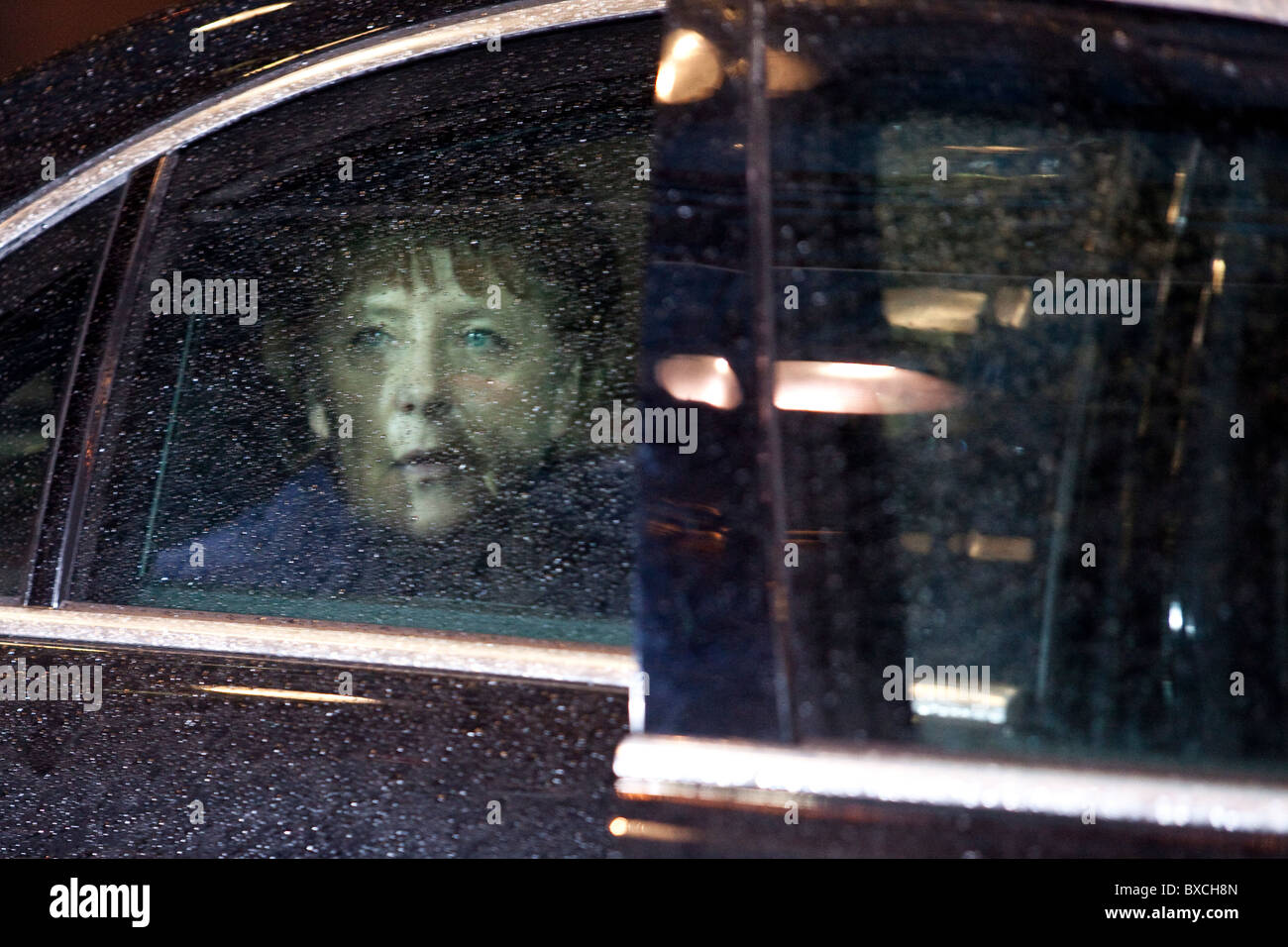 German Chancellor Angela Merkel arrives to the EU Summit on 16 december 2010 - Stock Image