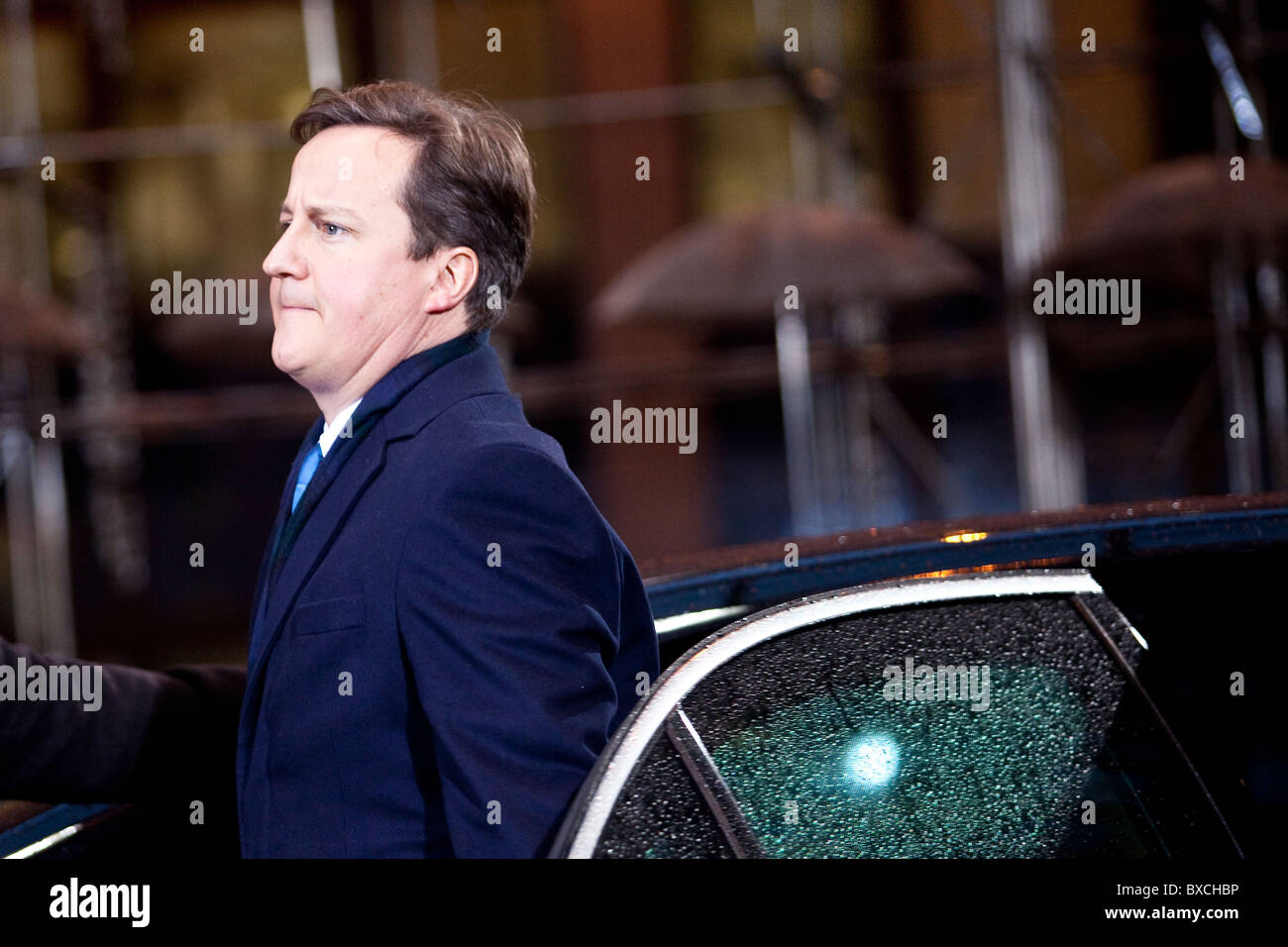 UK prime minister David Cameron arrives to the EU Summit on 16 december 2010 Stock Photo