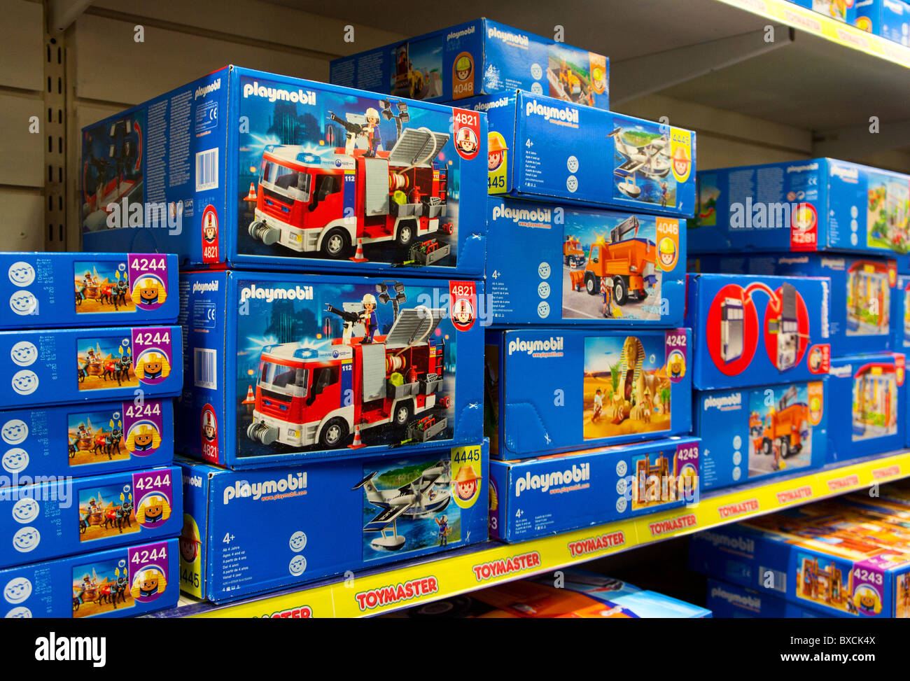 ' Playmobil ' in a toy shop - Stock Image