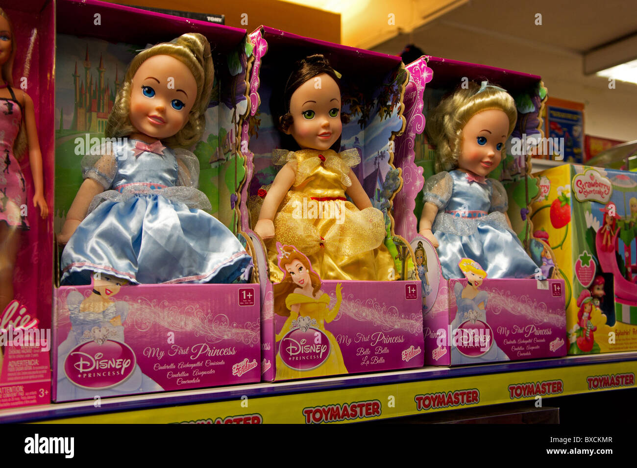 toy dolls in a shop - Stock Image