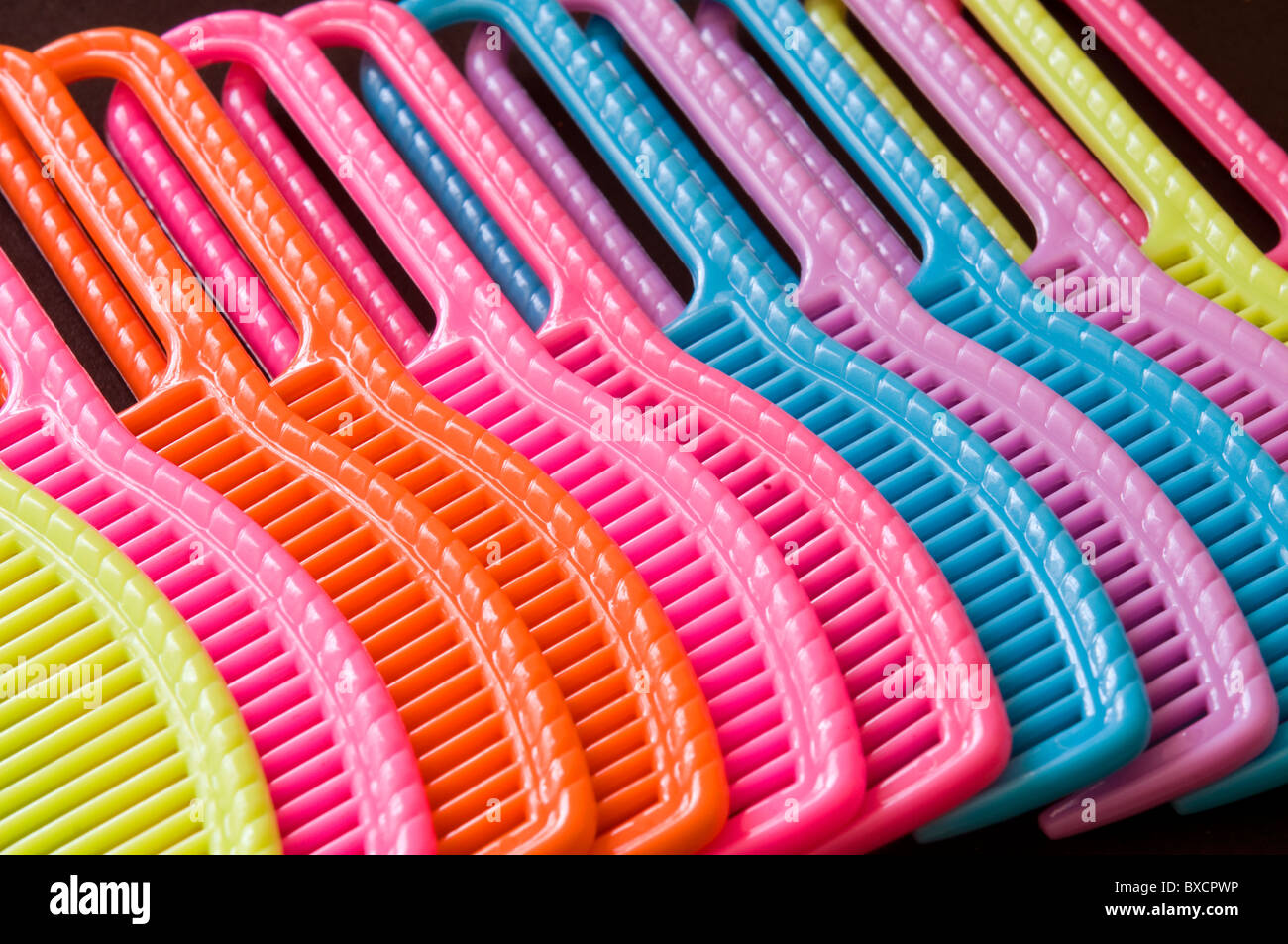 plastic combs - Stock Image