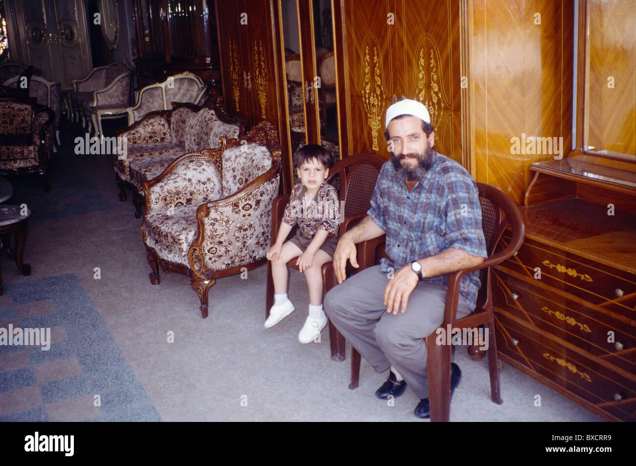 Tripoli Lebanon Souk Al   Haraj Muslim Father U0026 Son In Furniture Shop