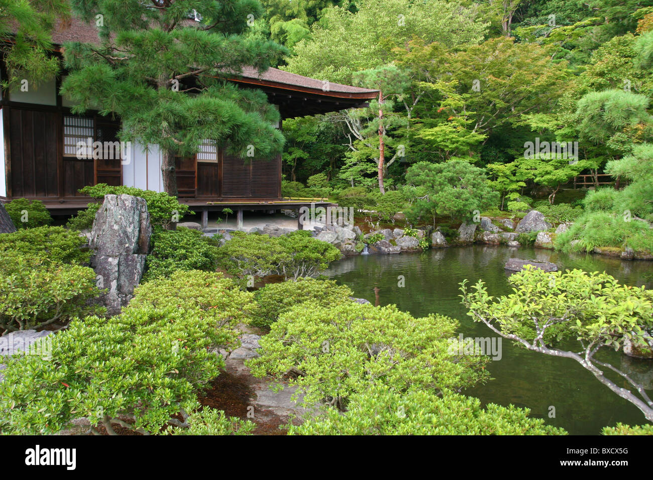 Charmant Pine Tree Garden In Ginkaku Ji Or Temple Of The Silver Pavilion In Kyoto  Japan