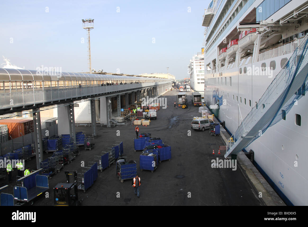 Norwegian Gem ready to leave Venice, Italy - Stock Image