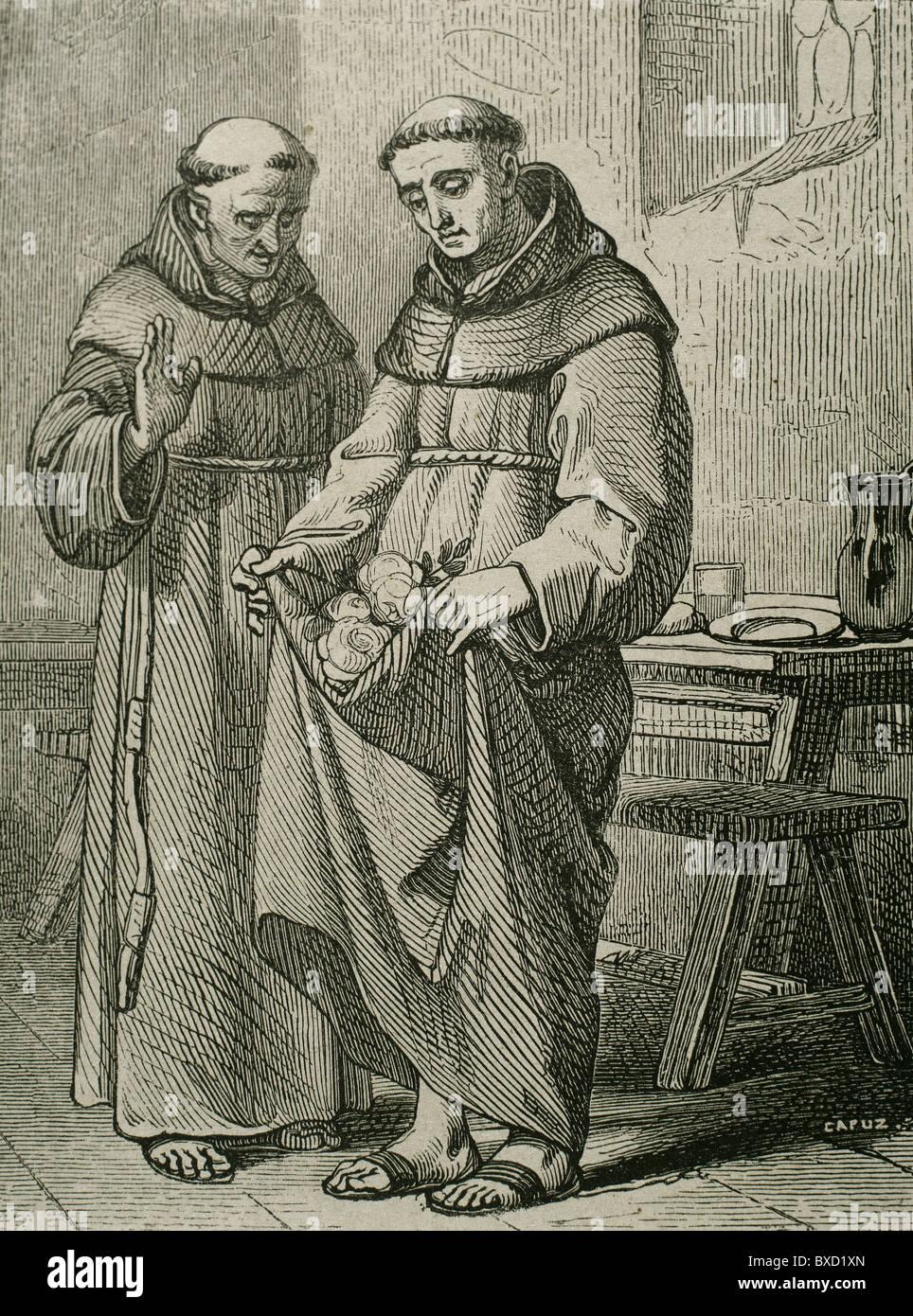 Saint Peter de Regalado (1390–1456). Friar Minor and reformer. - Stock Image