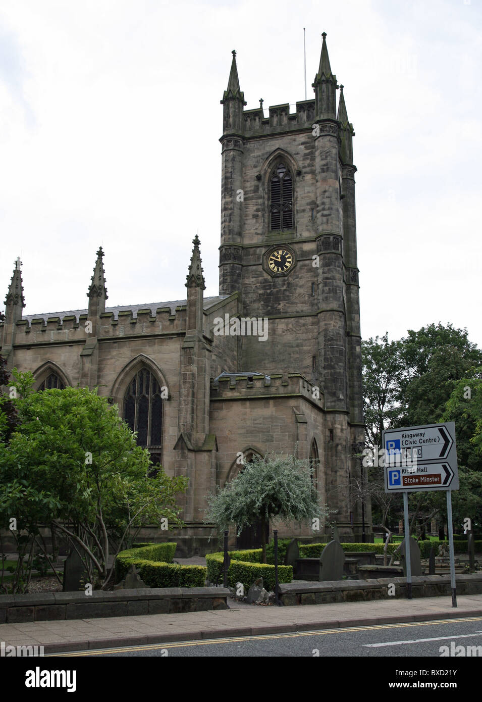 The church of St Peter ad Vincula also known as Stoke Minster Stoke-on-Trent Staffs Staffordshire England UK - Stock Image