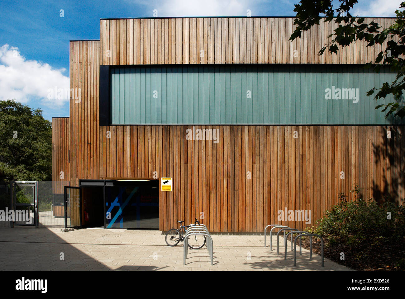 Westminster Academy's Sports Centre designed by Alford Hall Monaghan Morris at Westbourne Green West London - Stock Image