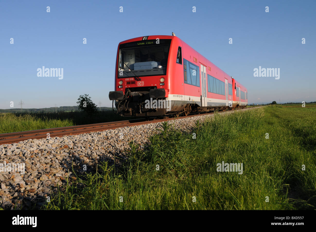 Railcar of the DB - Stock Image