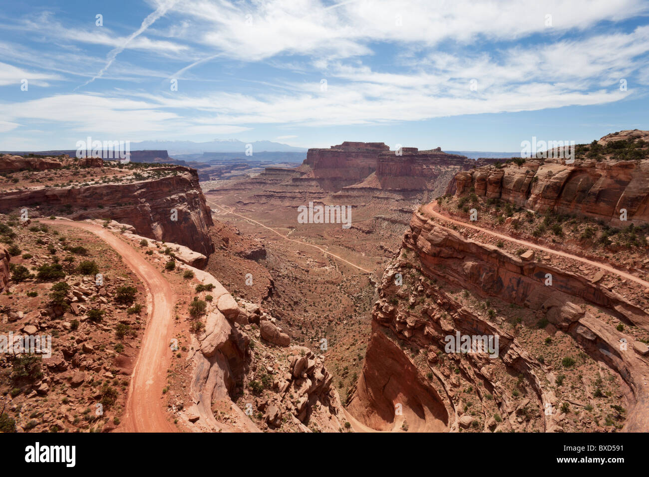 Looking into Canyonlands National Park. - Stock Image