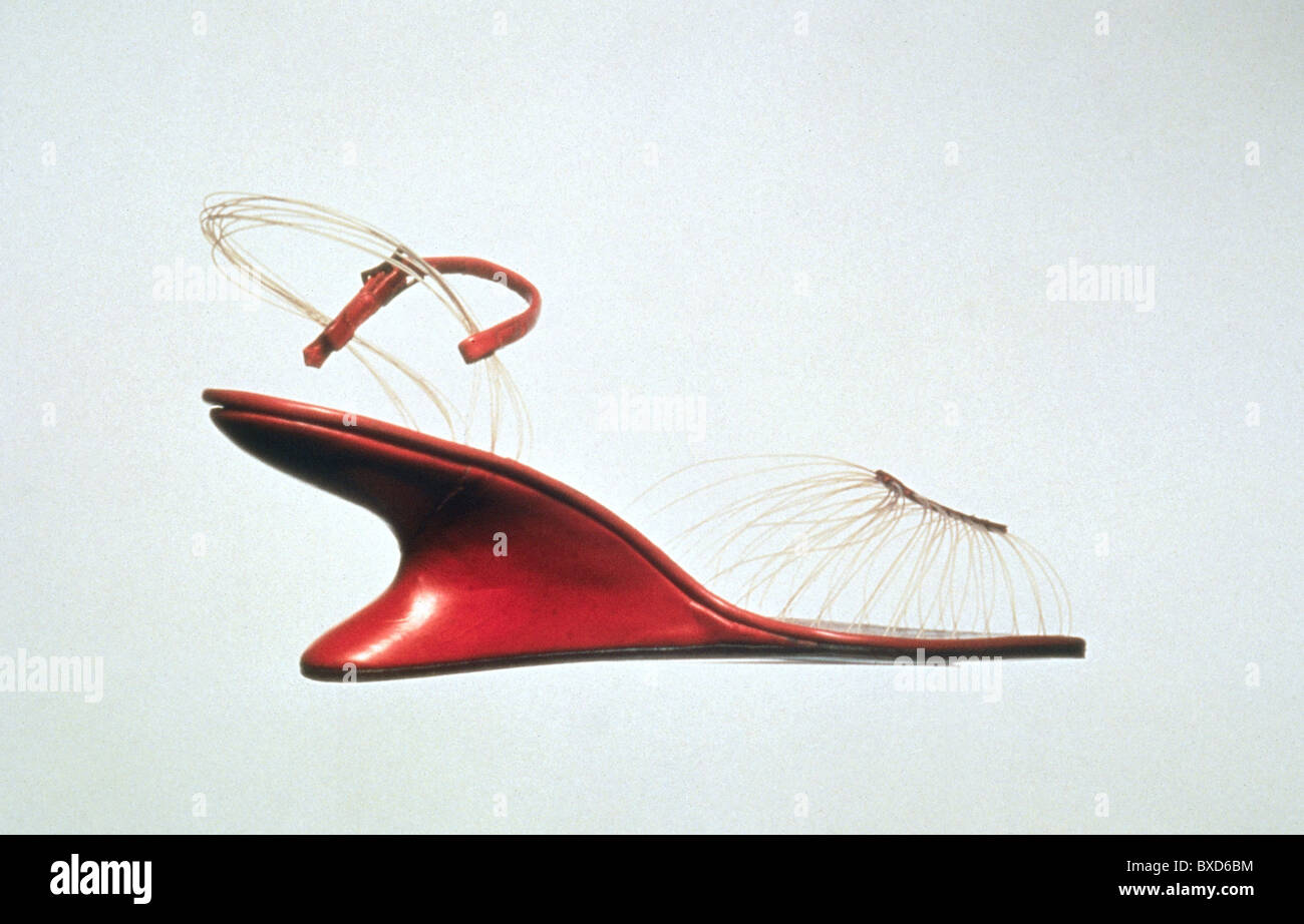 fashion, shoes, shoe by Salvatore Ferragamo (1898 - 1960), 1947, Additional-Rights-Clearences-NA - Stock Image