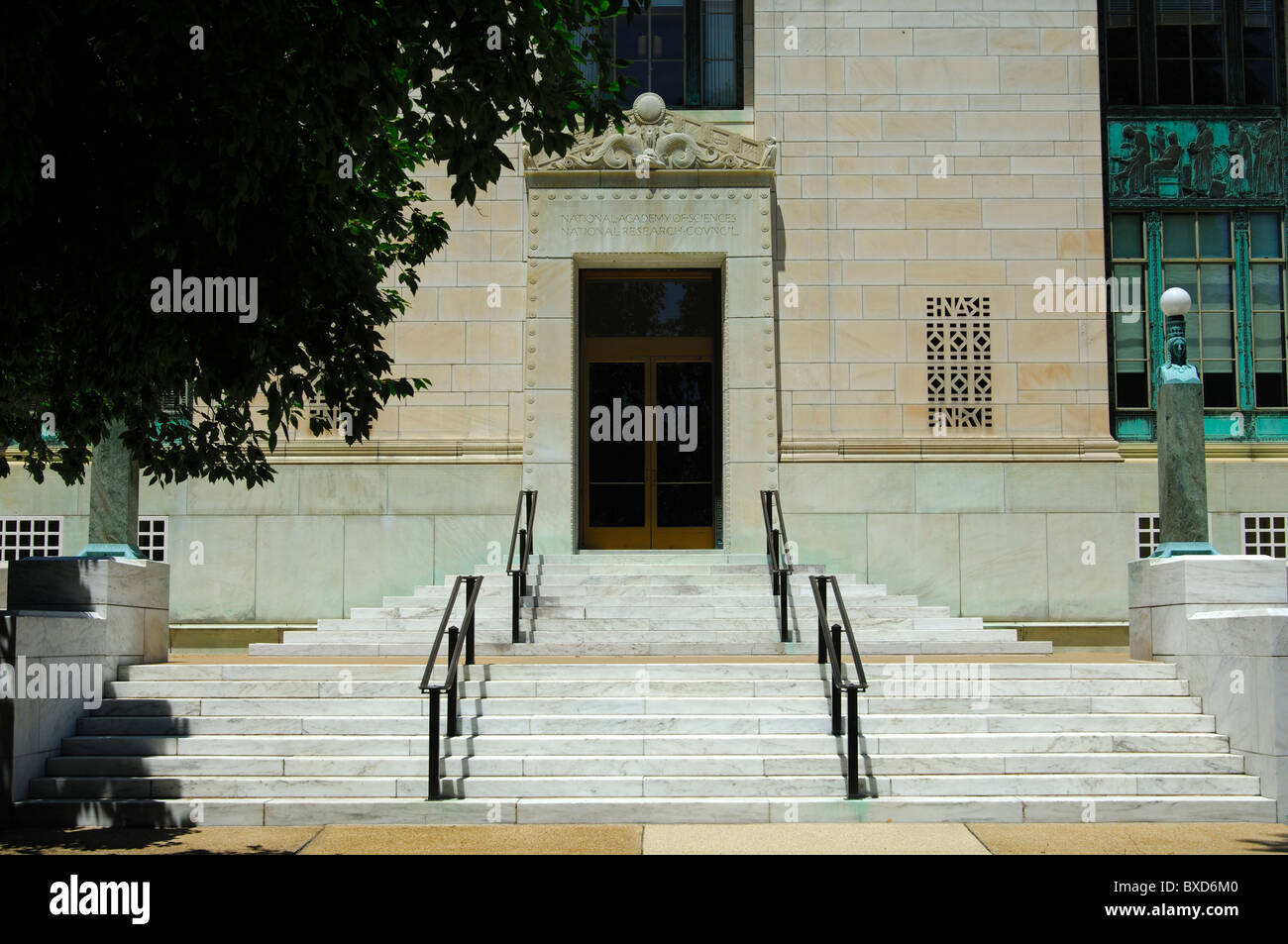 Entrance to the National Academy of Sciences (NAS), historic building in Washington, D.C., USA - Stock Image