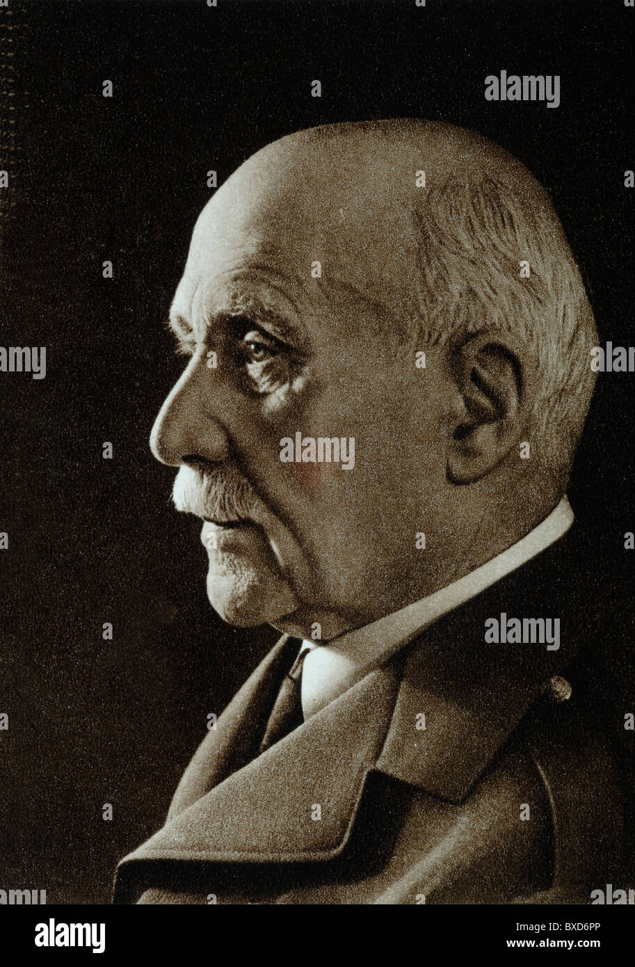 Portrait of Marshal Philippe Pétain (1856-1951) French Army Officer, Marshal of France, Chief of State of Vichy - Stock Image