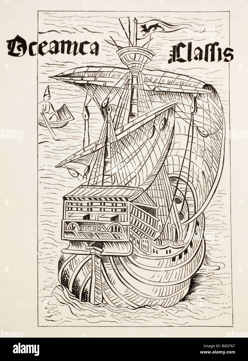 Spanish caravel of the 15th or 16th century of a type possibly used by Columbus on one of his voyages to the Americas. - Stock Image