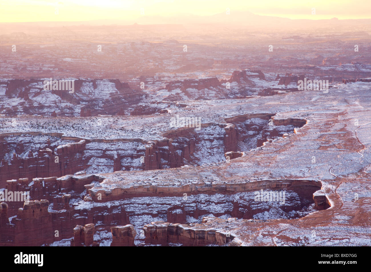 Sunrise in Canyonlands National Park, Utah - Stock Image
