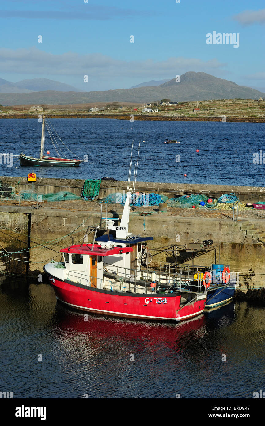Roundstone, County Galway, Connacht, Republic of Ireland - Stock Image