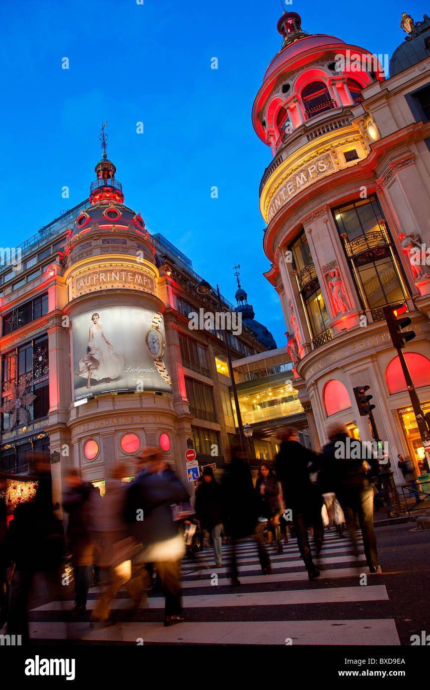 Europe, France, Paris (75), Le printemps department Store - Stock Image
