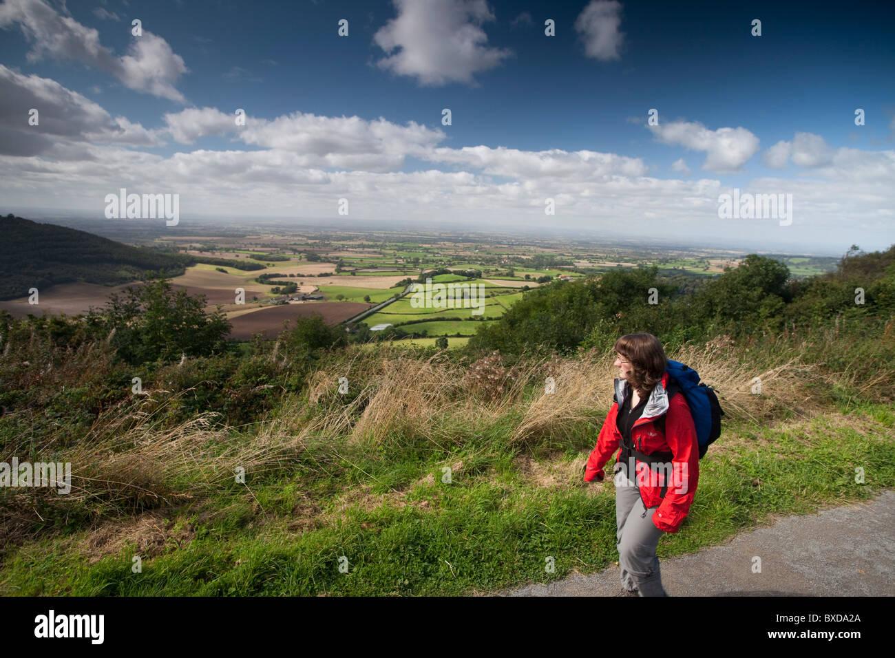Rambler Walker Cleveland Way North Yorkshire National Trail Stock Photo