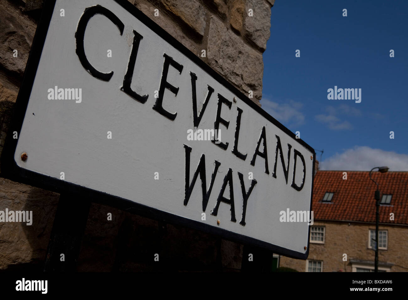 Rambler Walker Cleveland Way North Yorkshire National Trail - Stock Image