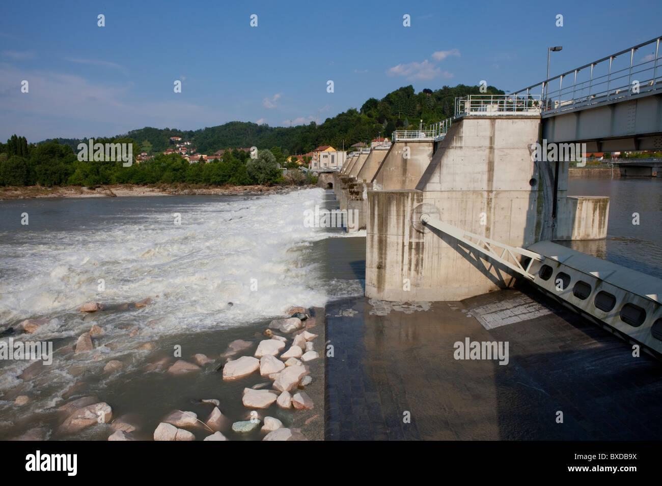 River Dam - Stock Image