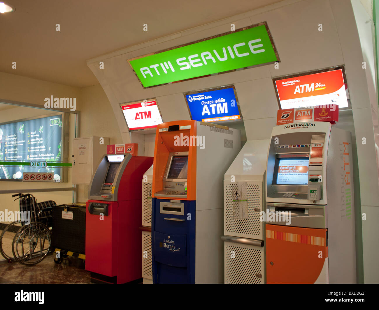 The ATM Service center area in MBK Shopping mall. - Stock Image