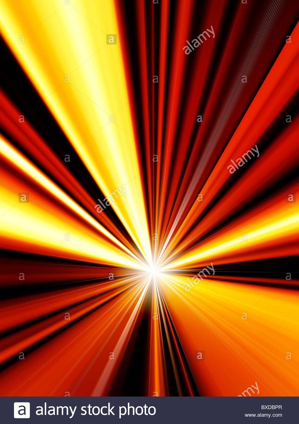 Dynamic starburst background illustration - Stock Image