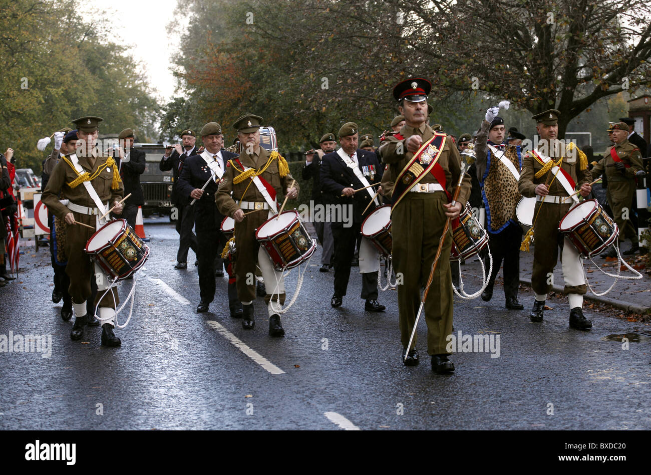BRITISH ARMY MARCHING BAND PICKERING YORKSHIRE PICKERING NORTH YORKSHIRE PICKERING NORTH YORKSHIRE 16 October 2010 - Stock Image