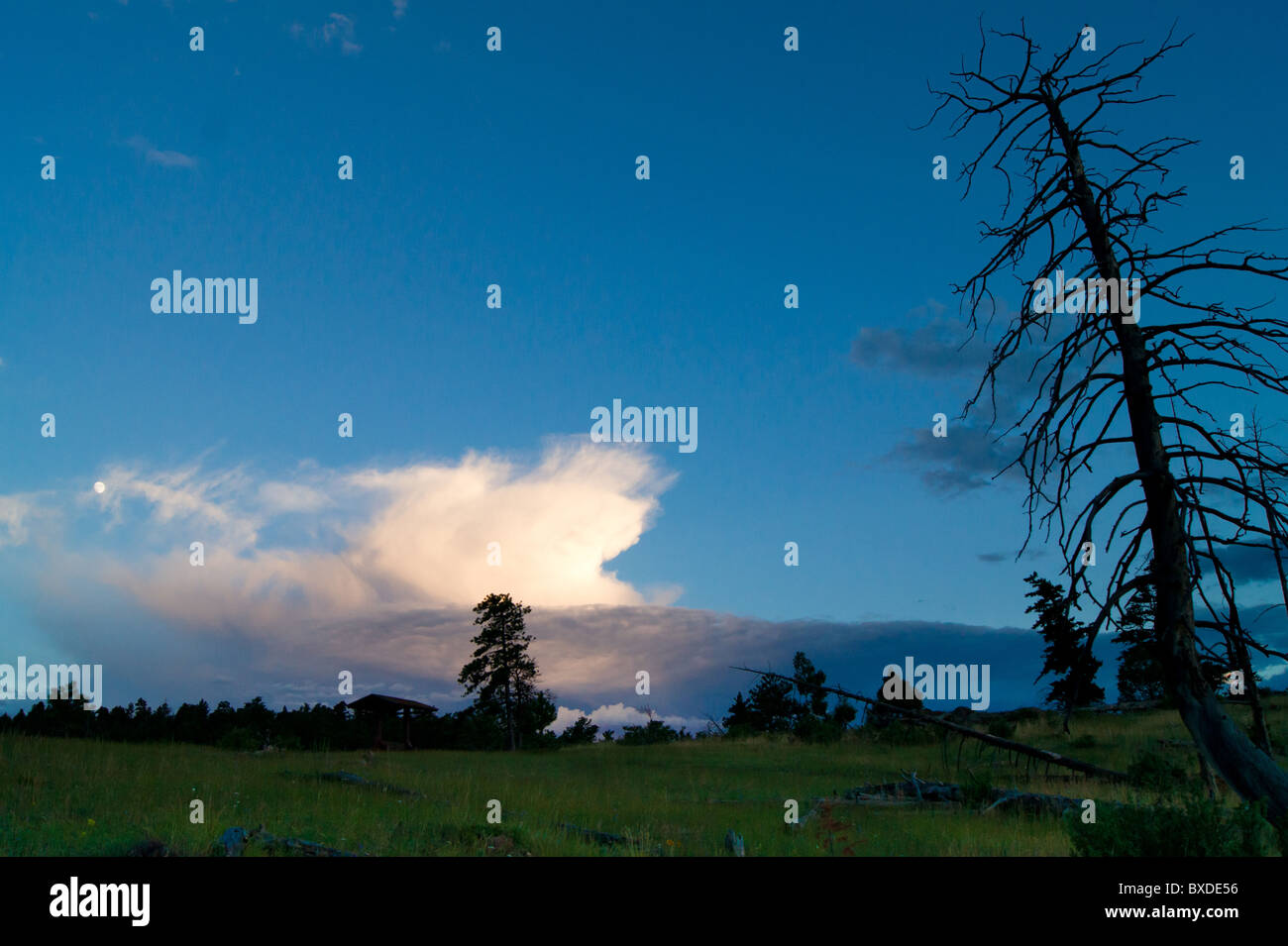 Dramatic scene of landscape in the evening at the mountains - Stock Image