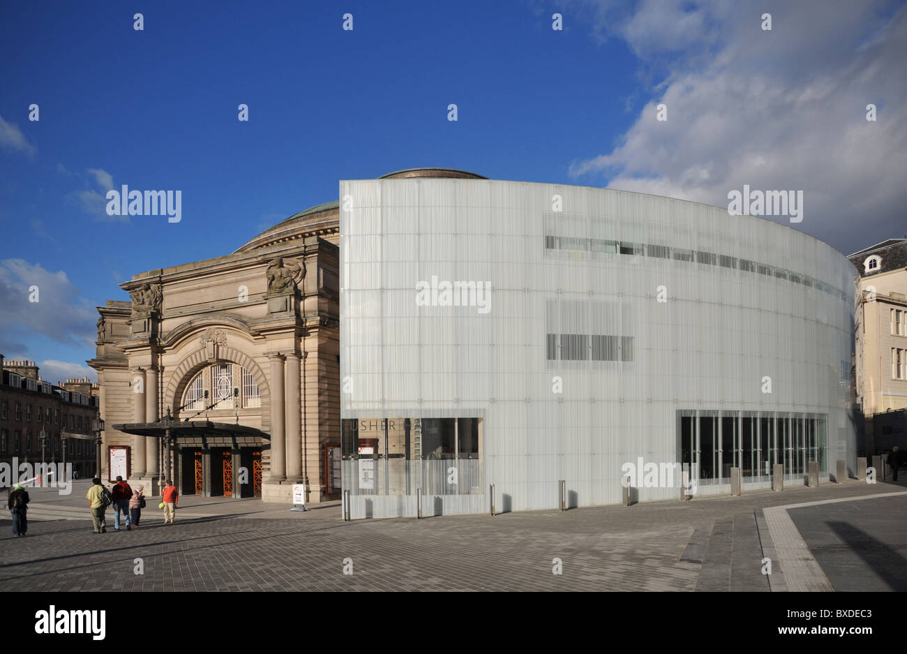 Usher Hall Concert Hall Edinburgh new extension - Stock Image