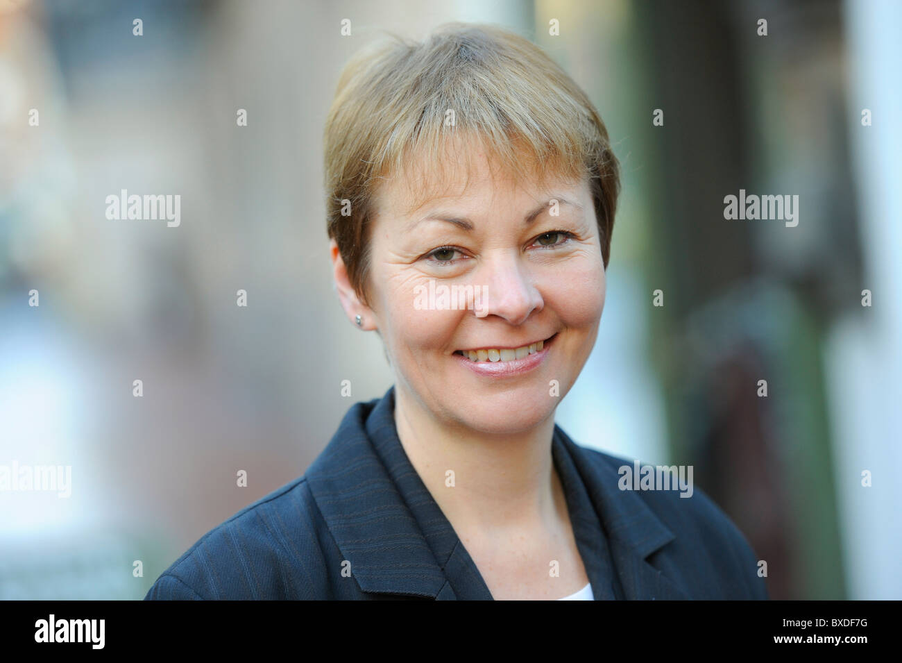 Caroline Lucas MP photographed  in Brighton, East Sussex UK. Picture by Jim Holden. - Stock Image