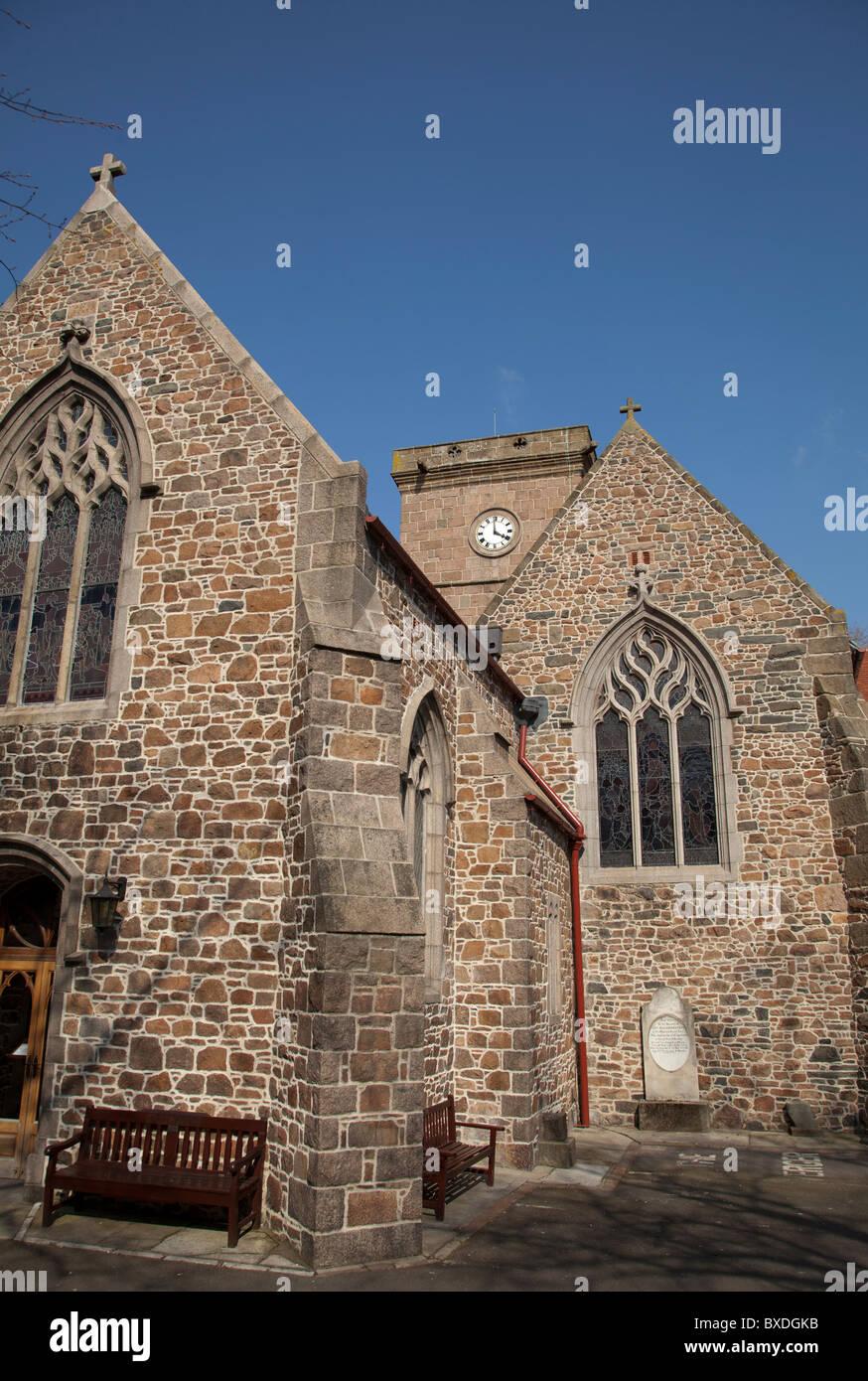 Parish Church of St Helier Jersey Stock Photo - Alamy