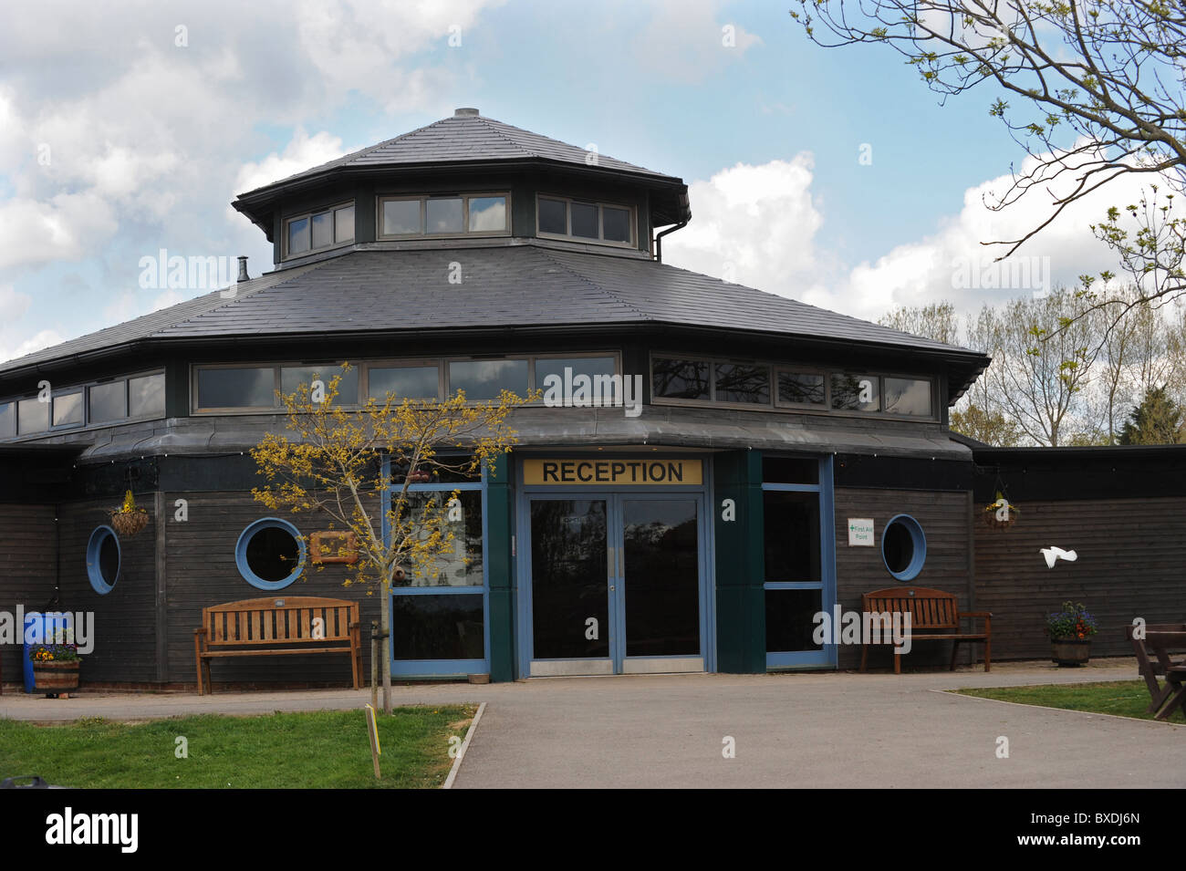Reception building for the Raystede Centre for Animal Welfare in Ringmer East Sussex - Stock Image