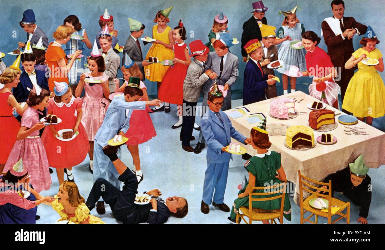 1950s US CHILDREN'S PARTY - Stock Image