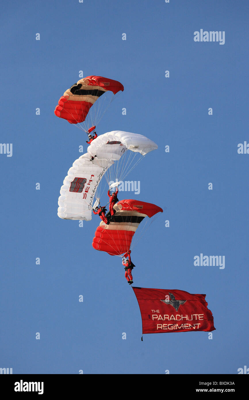 The Red Devils Parachute Display Team - Stock Image
