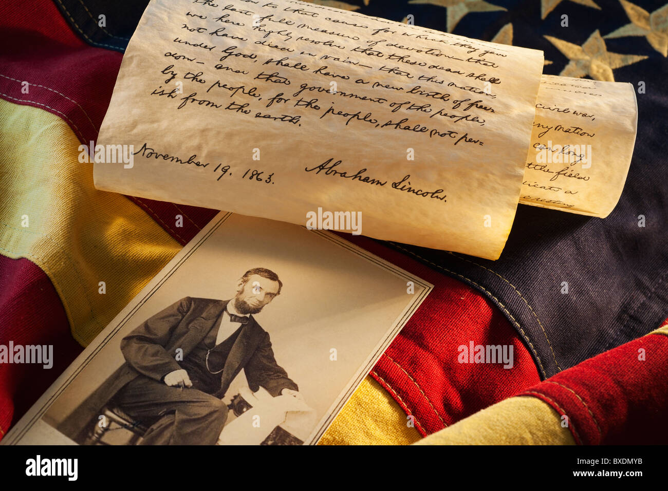 Letters written by Abraham Lincoln Stock Photo