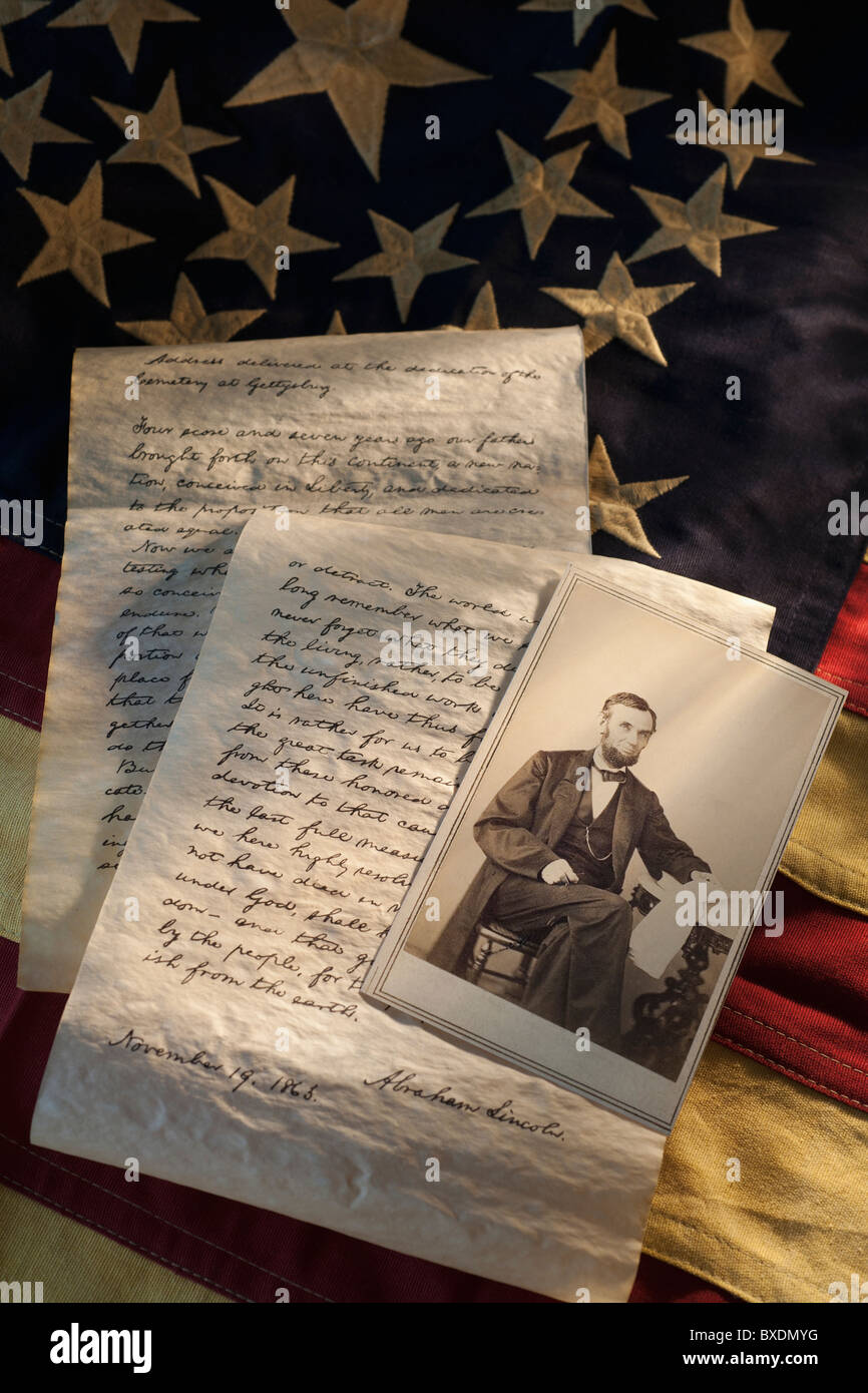 Letters written by Abraham Lincoln - Stock Image