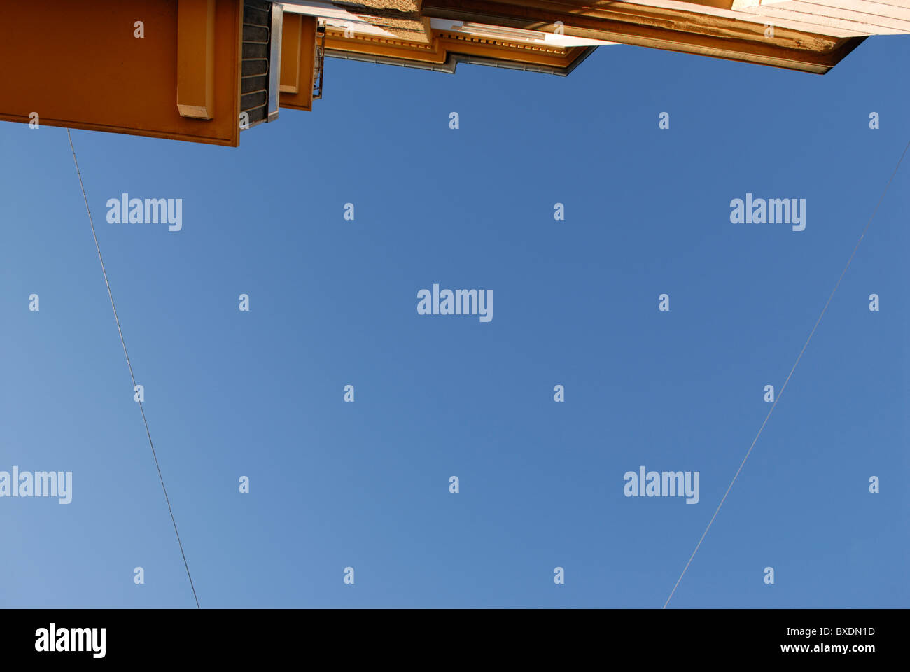 WIRED BLUE SKY ABSTRACT - Stock Image