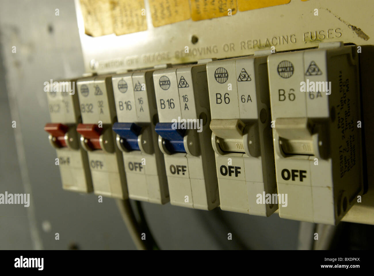 Old Electrical Installation With Fuse Box Stock Photo 33494606 Alamy Older Boxes