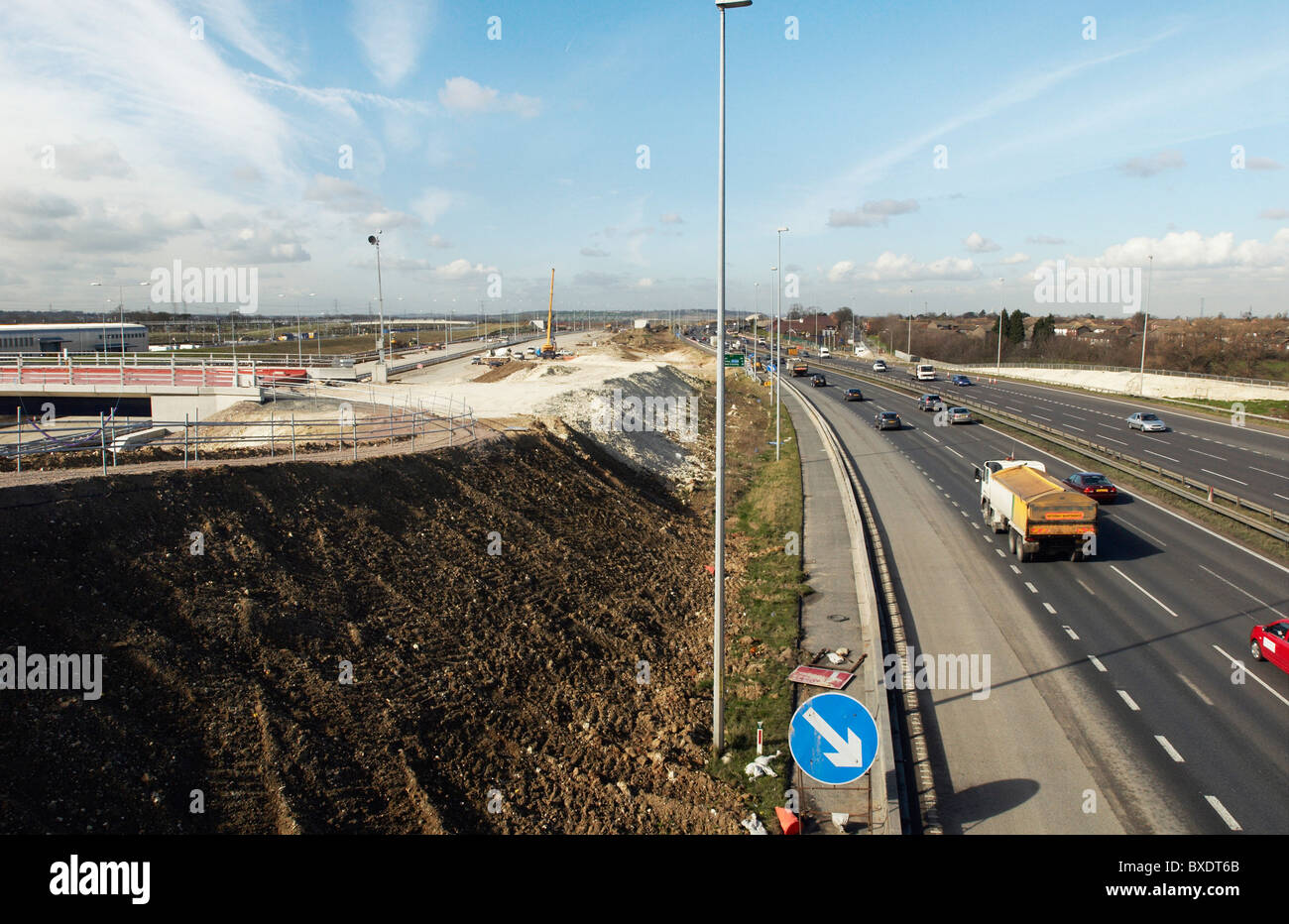 Junction upgrade of A2 near Bean Kent UK Stock Photo