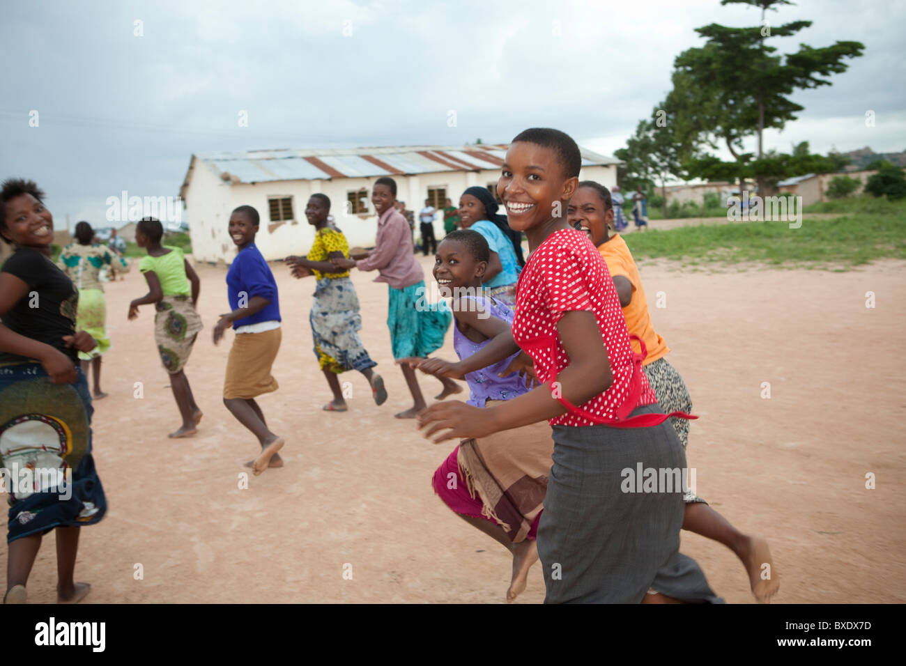 Adolescent girls attend an after school program in Dodoma, Tanzania, East Africa. Stock Photo