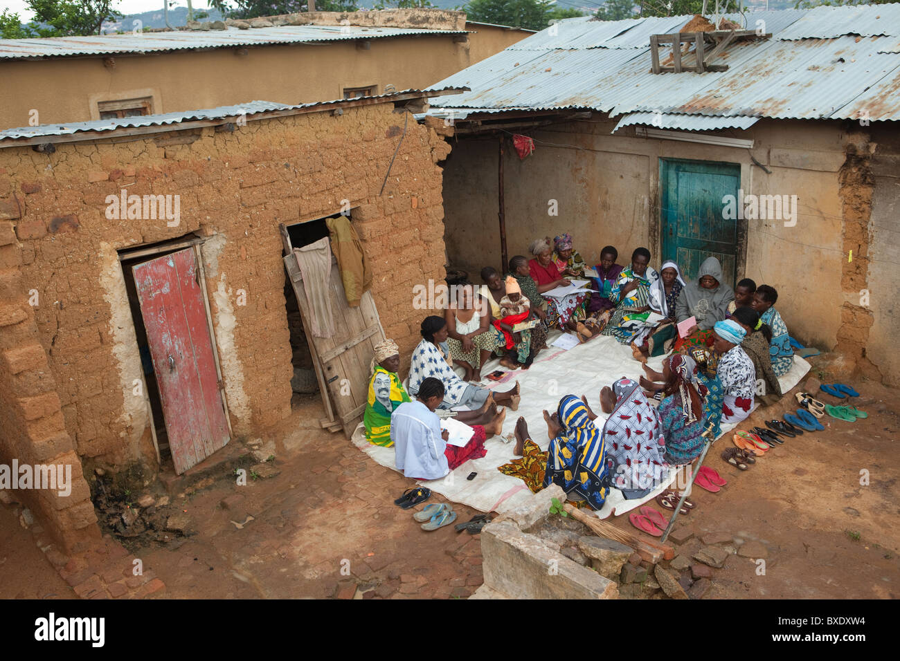 Women attend a community meeting in Iringa, Tanzania, East Africa. - Stock Image