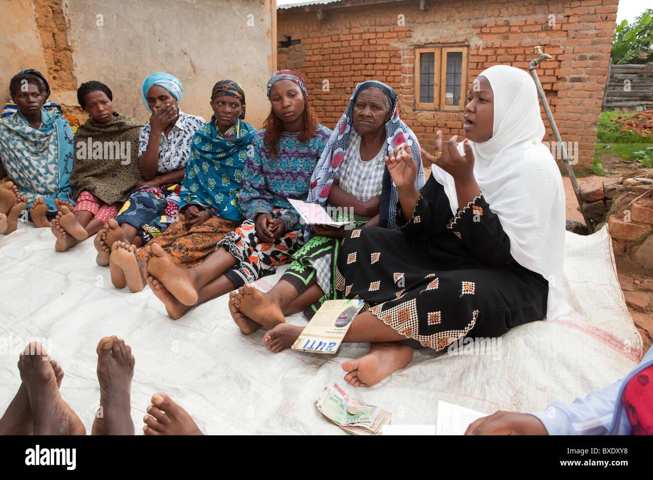 Women attend a community meeting in Iringa, Tanzania, East Africa. - Stock Image