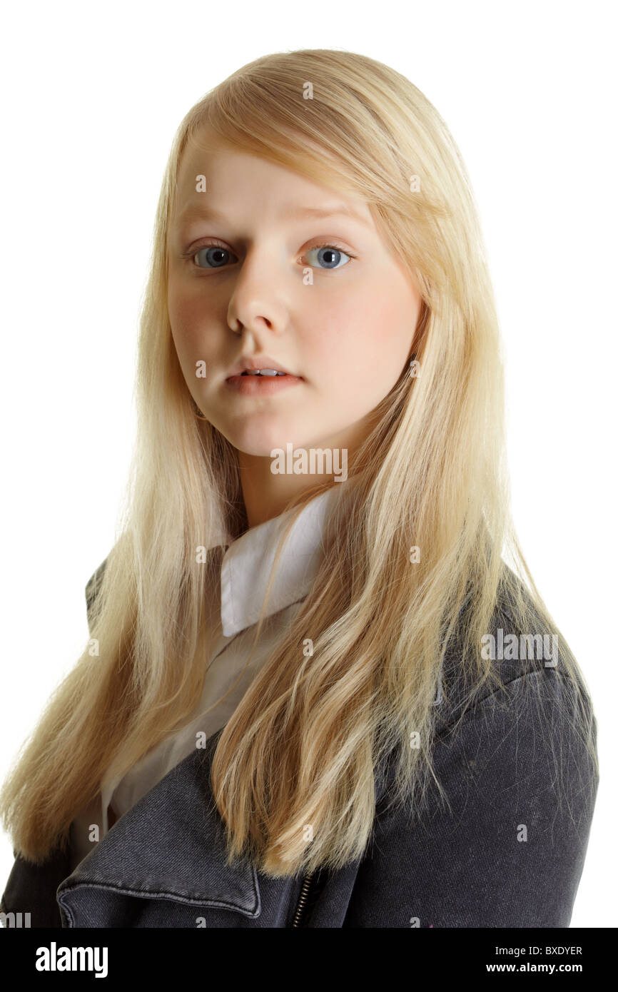 Young teen blonde hair