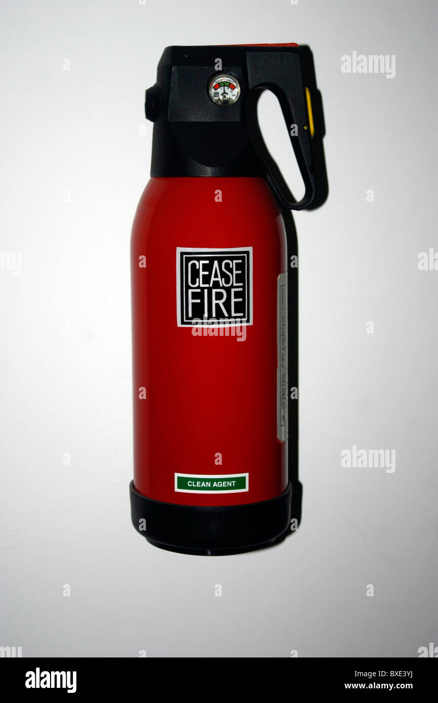 A Fire extinguisher - equipment for putting out fire - Stock Image