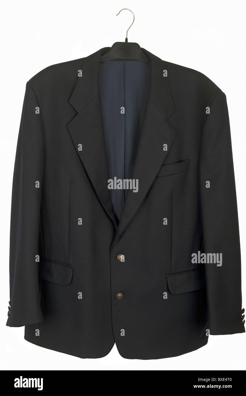 mans black jacket - Stock Image