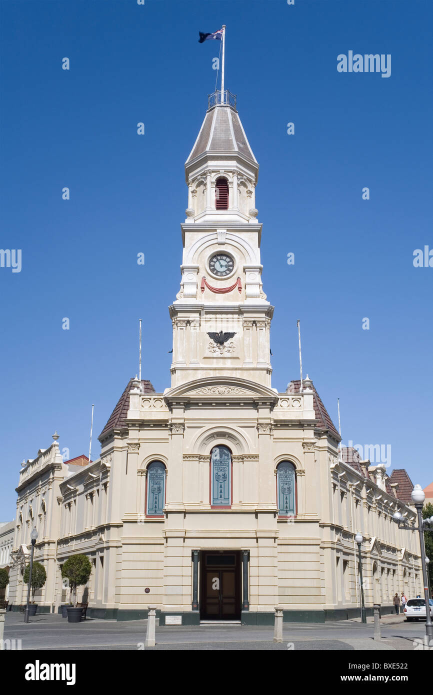 Fremantle town hall, south of Perth, Western Australia - Stock Image