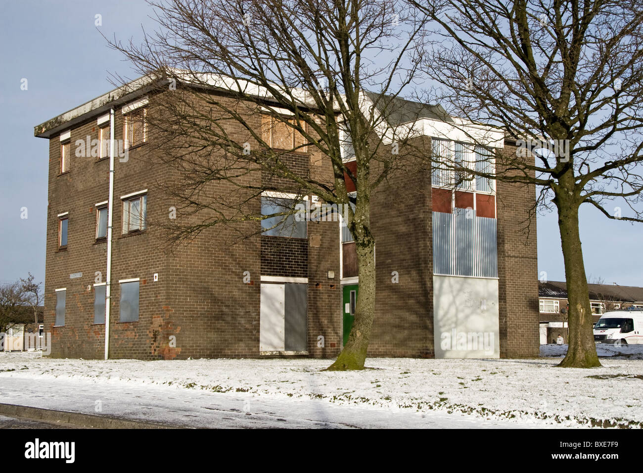 Former council flats, to be demolished, Sholver estate,Oldham, (Oldham East + Saddleworth  Const. ), Greater Manchester, Stock Photo