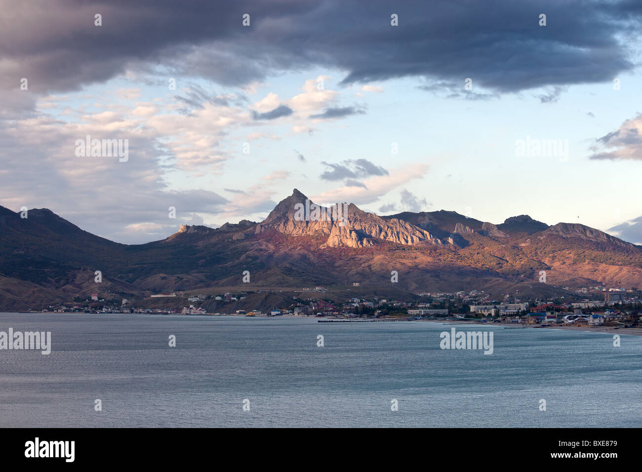 Kara Dag mountain, Crimea, Ukraine - Stock Image