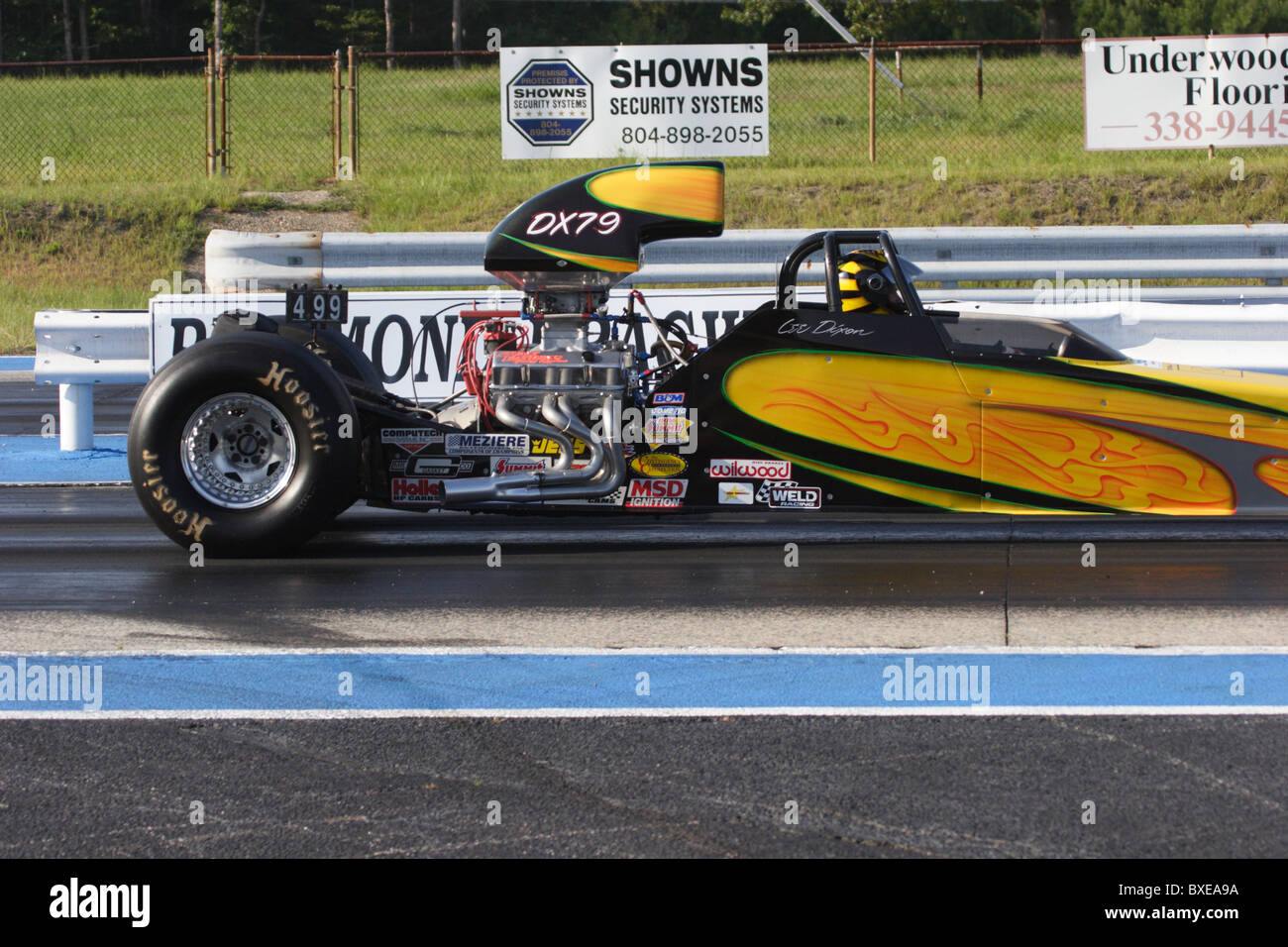 dragster preparing to race at richmond dragway in sandston, virginia