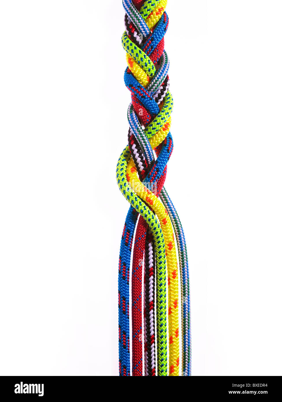 Braid of colorful rope - Stock Image